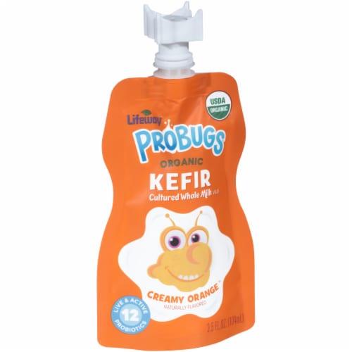 Lifeway Probugs Organic Creamy Orange Kefir Perspective: left