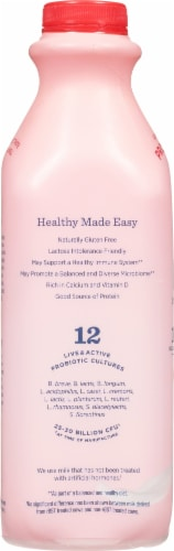 Lifeway Low Fat Strawberry Kefir Perspective: left