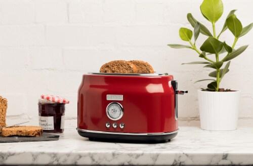 Haden Dorset Stainless Steel 2-Slice Toaster - Red Perspective: left