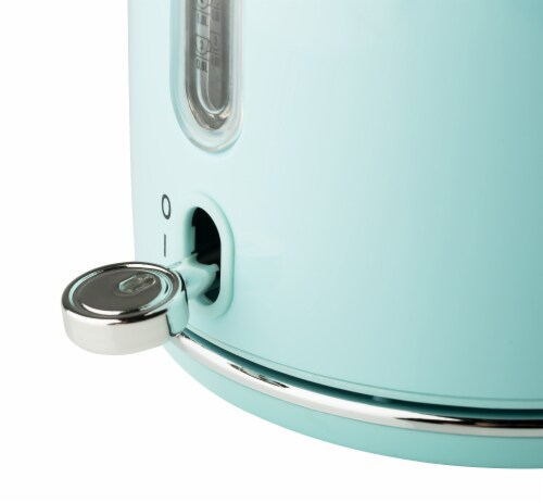Haden Heritage Stainless Steel Cordless Electric Kettle - Turquoise Perspective: left