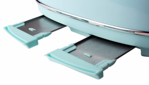 Haden Heritage 4-Slice Wide Slot Toaster -Turquoise Perspective: left