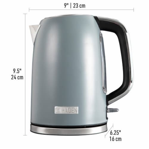 Haden Perth Stainless Steel Cordless Electric Kettle - Slate Gray Perspective: left
