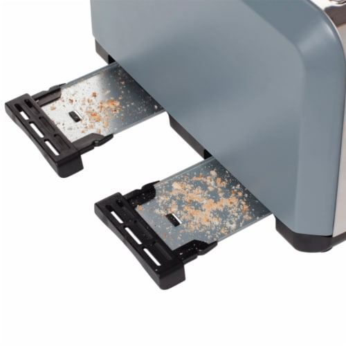 Haden Perth 4-Slice Wide Slot Toaster - Slate Grey Perspective: left