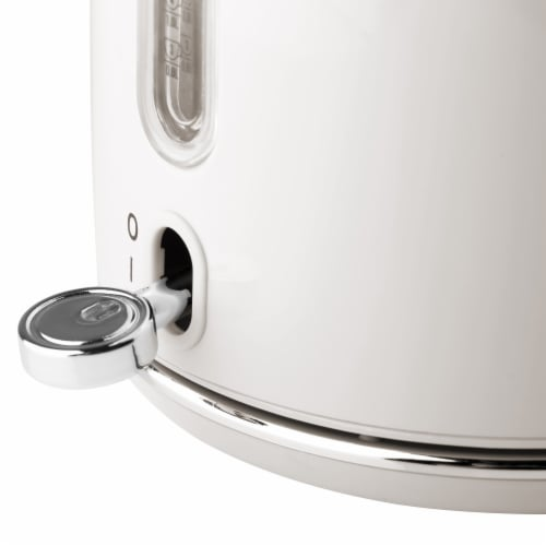 Haden Heritage Stainless Steel Cordless Electric Kettle - Ivory White Perspective: left