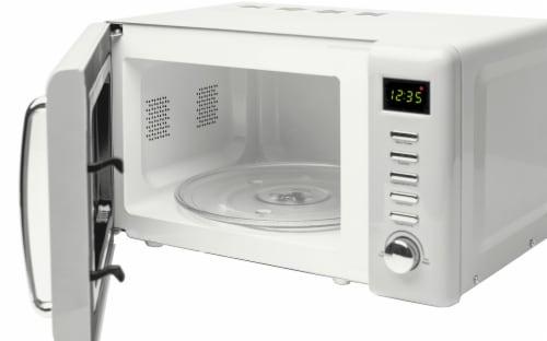 Haden Heritage 700-Watt Microwave - Ivory White Perspective: left