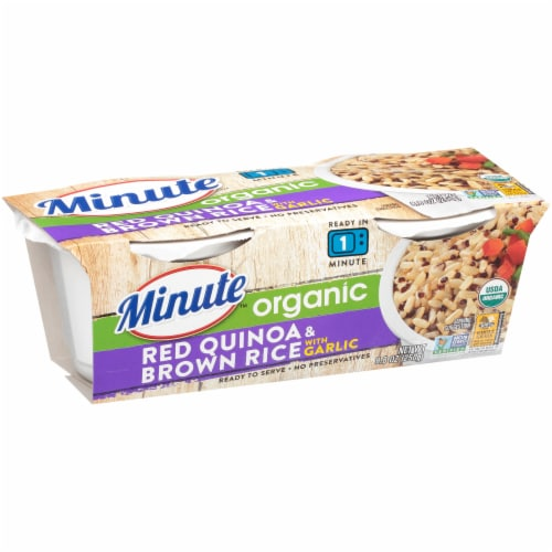 Minute Ready to Serve Organic Red Quinoa & Brown Rice with Garlic Perspective: left