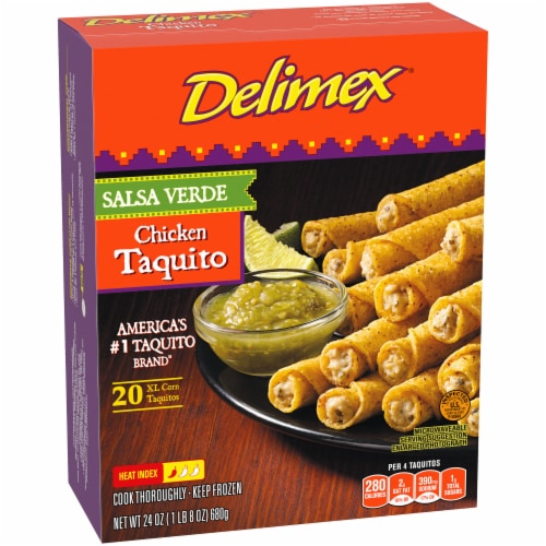 Delimex Salsa Verde Chicken Taquitos Perspective: left