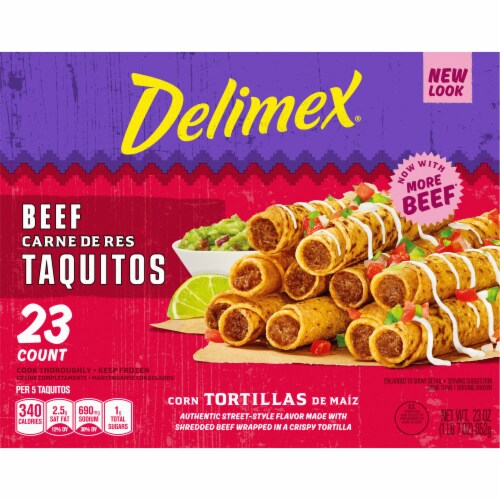 Delimex Beef Corn Taquitos Perspective: left