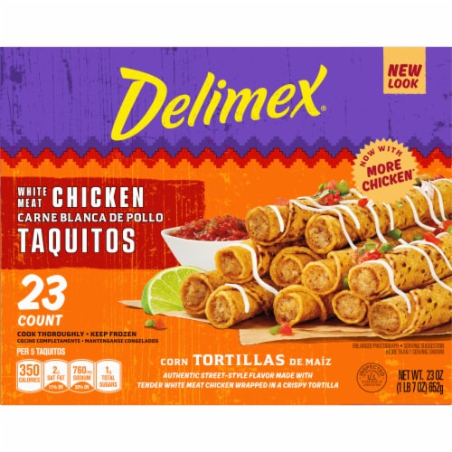 Delimex White Meat Chicken Corn Taquitos Perspective: left