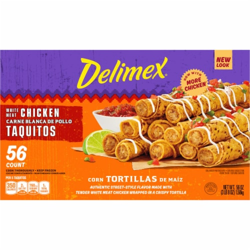 Delimex® White Meat Chicken Taquitos Perspective: left