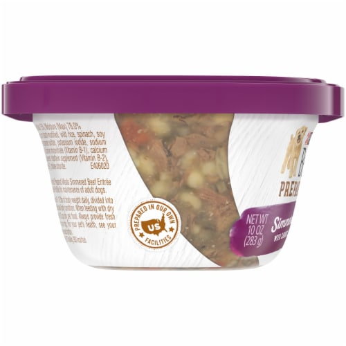 Beneful Prepared Meals Simmered Beef Entree Adult Wet Dog Food Perspective: left