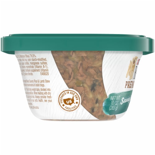 Beneful Prepared Meals Savory Rice & Lamb Stew Adult Wet Dog Food Perspective: left