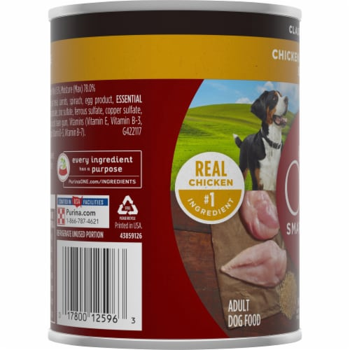 Purina ONE SmartBlend Chicken & Brown Rice Entree Classic Ground Adult Wet Dog Food Perspective: left