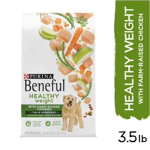 Beneful Healthy Weight with Real Chicken Dry Dog Food Perspective: left