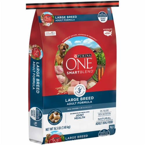 Purina ONE SmartBlend Natural Large Breed Dry Adult Dog Food Perspective: left