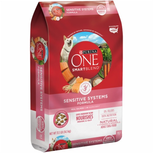 Purina ONE Smartblend Sensitive Systems Formula Dry Adult Dog Food Perspective: left