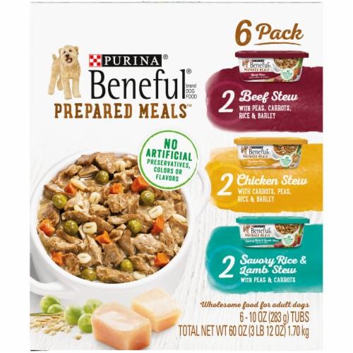 Beneful Prepared Meals Wet Dog Food Variety Pack Perspective: left