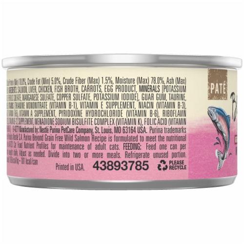 Beyond® Grain-Free Wild Salmon Recipe Pate Wet Cat Food Perspective: left