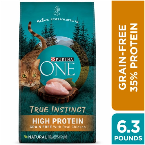 Purina ONE True Instinct Grain Free with Real Chicken Natural Dry Cat Food Perspective: left