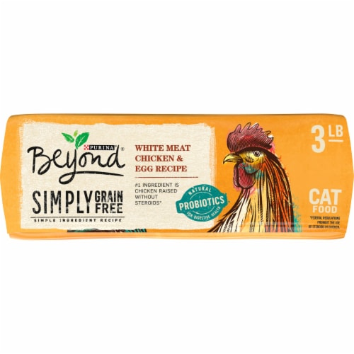 Beyond Simply Grain Free White Meat Chicken & Egg Recipe Dry Cat Food Perspective: left
