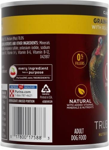 Purina ONE SmartBlend True Instinct Classic Ground Turkey & Venison Adult Dog Food Perspective: left
