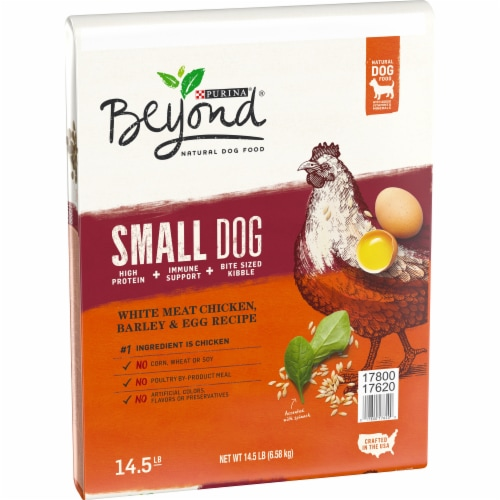 Beyond White Meat Chicken Barley & Egg Recipe Dry Small Dog Food Perspective: left