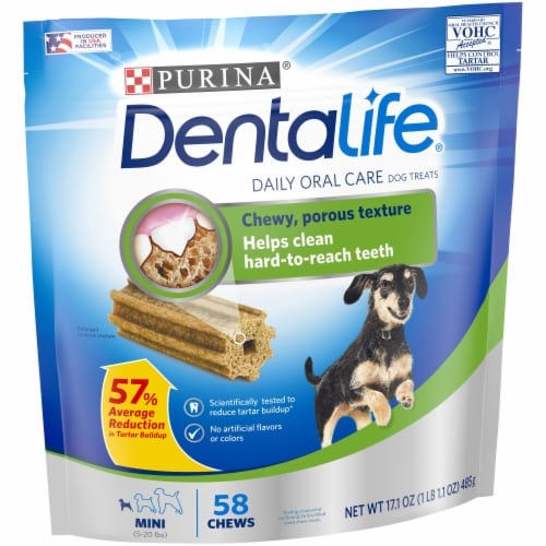 DentaLife Mini Daily Oral Care Dog Treats Perspective: left