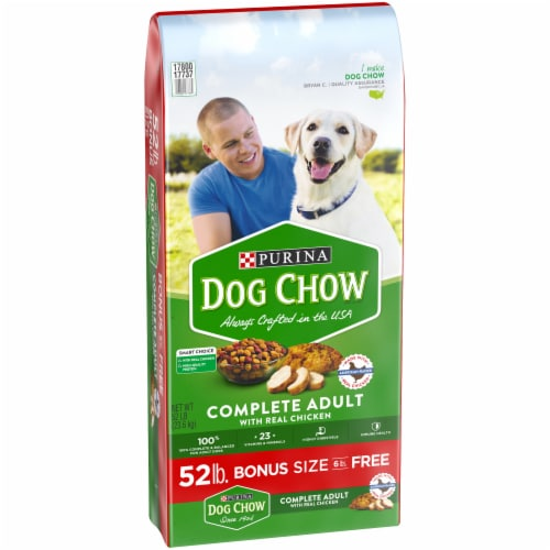 Dog Chow Complete with Real Chicken Adult Dry Dog Food Perspective: left