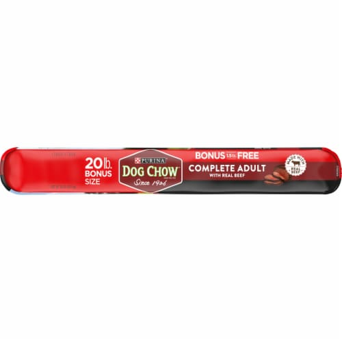 Dog Chow Complete Adult with Real Beef Dry Dog Food Perspective: left