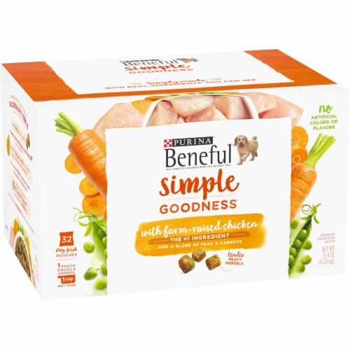 Beneful Simple Goodness Chicken Dog Food Pouches Perspective: left