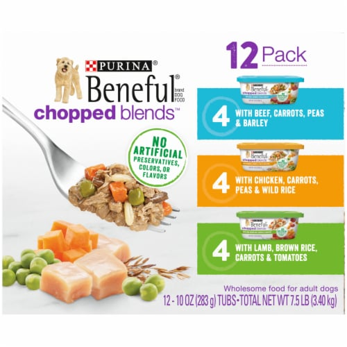 Beneful Chopped Blends Wet Dog Food Variety Pack Perspective: left
