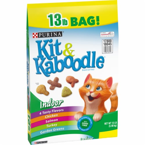 Kit & Kaboodle 4 Tasty Flavors Indoor Dry Cat Food Perspective: left