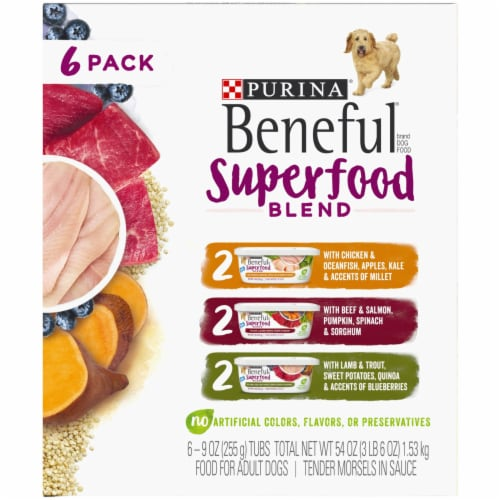 Beneful Superfood Blend Wet Dog Food Variety Pack - 6 ct Perspective: left