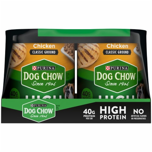 Dog Chow High Protein with Real Classic Ground Beef & Chicken Wet Dog Food (6 Pack) Perspective: left