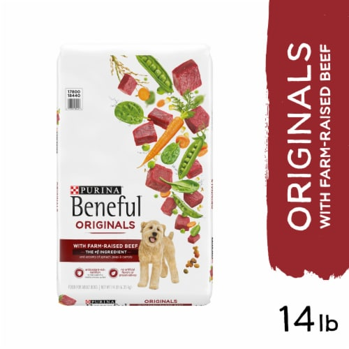 Beneful Originals with Real Beef Adult Dog Food Perspective: left