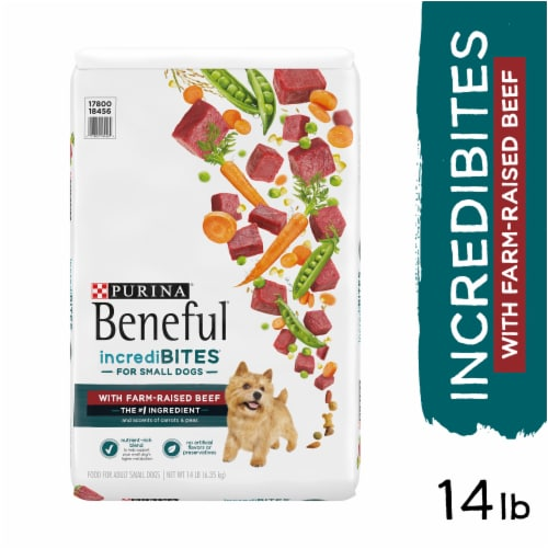 Beneful IncrediBites With Real Beef Small Dry Dog Food Perspective: left