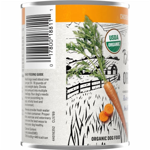 Purina Beyond Organic Chicken & Carrot Wet Dog Food Perspective: left