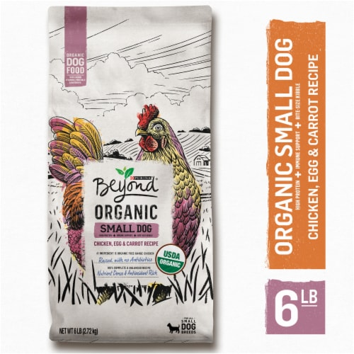 Beyond Organic Chicken Egg & Carrot Recipe Small Dog Food Perspective: left