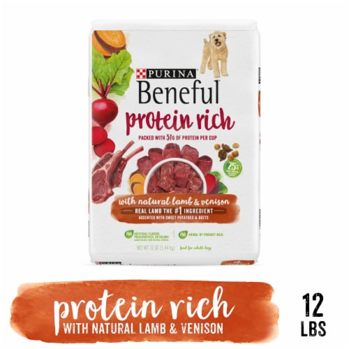Purina Beneful Natural Lamb & Venison Protein Rich Dry Dog Food Perspective: left