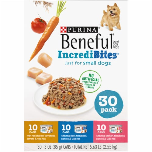 Purina Beneful IncrediBites Assorted Flavors Wet Small Dog Food Perspective: left