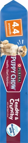 Puppy Chow Healthy Start Nutrition Tender & Crunchy with Real Beef & Rice Dry Puppy Food Perspective: left