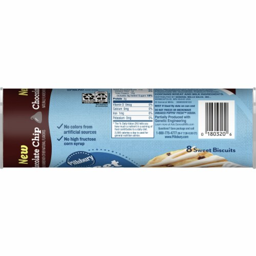 Pillsbury Chocolate Chip Sweet Biscuits with Icing Perspective: left