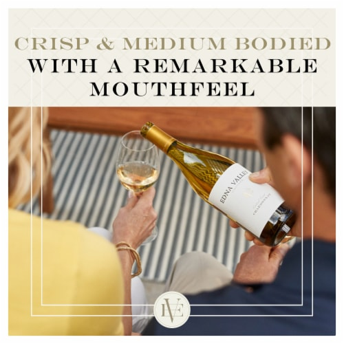 Edna Valley Vineyard Chardonnay White Wine Perspective: left
