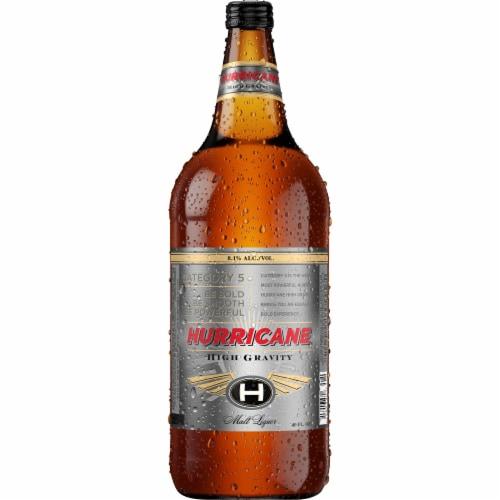 Hurricane High Gravity Malt Liquor Perspective: left