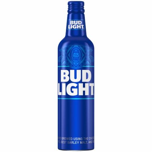 Bud Light Lager Beer Aluminum Bottle Perspective: left