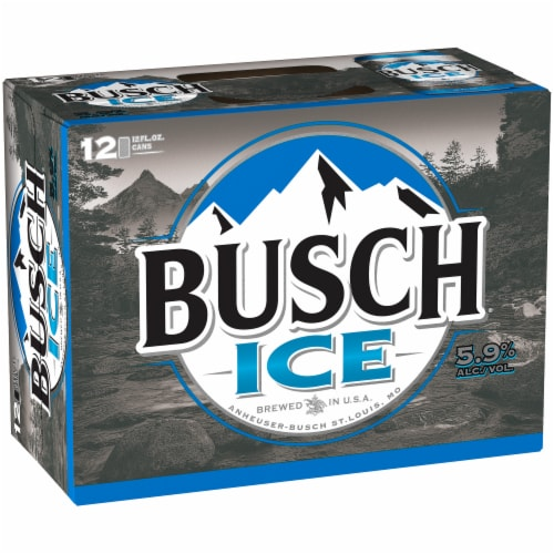 Busch Ice Lager Beer Perspective: left