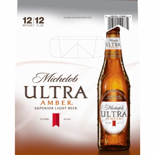 Michelob Ultra Amber Beer Perspective: left