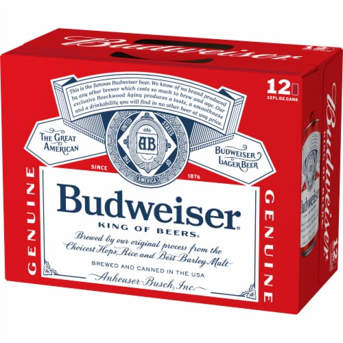 Budweiser Lager Beer Perspective: left