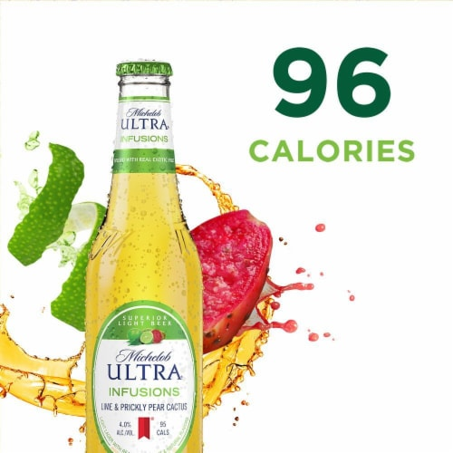 Michelob Ultra Lime Cactus Beer Perspective: left