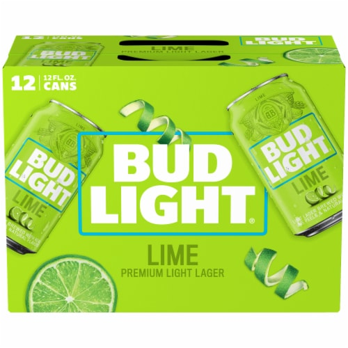 Bud Light Lime Lager Beer Perspective: left